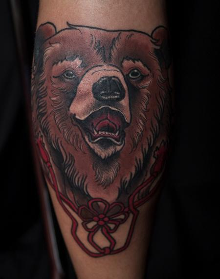 Neo-Traditional Bear  Tattoo Design