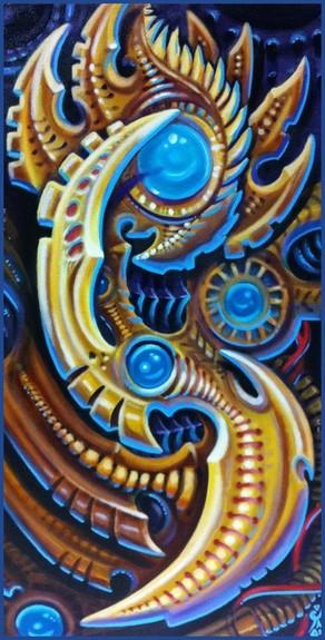 Tattoos - bio mech oil painting - 50957