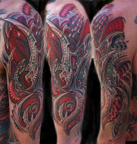 Tattoos - Biomechanical cover up tattoo - 67059