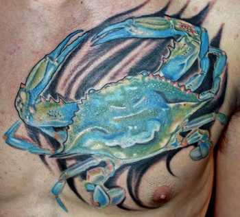 Tattoos - Blue crab - 35029