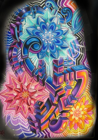 Tattoos - 3/4 Color sleeve drawing - 41798