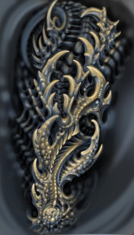 Tattoos - Biomech digital sleeve design - 115439