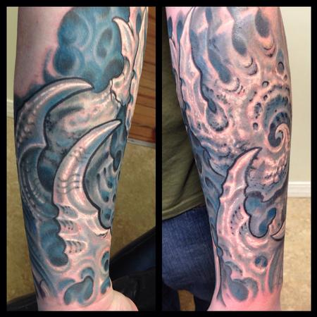 Tattoos - Biomech arm tattoo - 101068