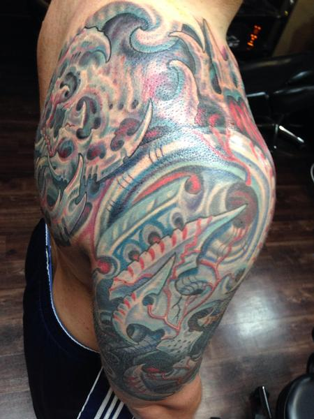 Tattoos - Biomech cover up - 99427