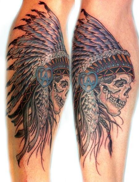 Tattoos - Indian skull - 67058