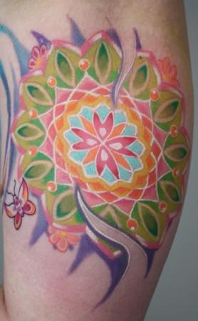 Tattoos - Lizzy's mandala. - 36271