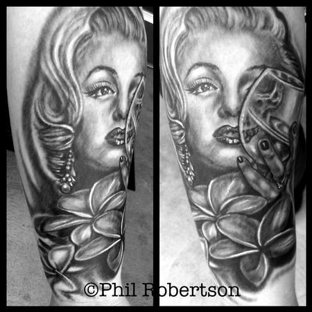 Tattoos - Marilyn Monroe skull portrait - 79952