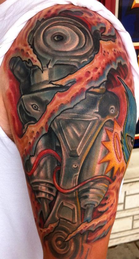 Tattoos - Terminator arm tattoo - 80972