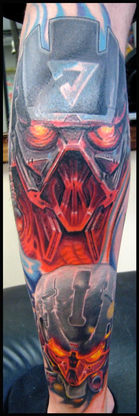 Tattoos - Killzone video game color tattoo - 56234