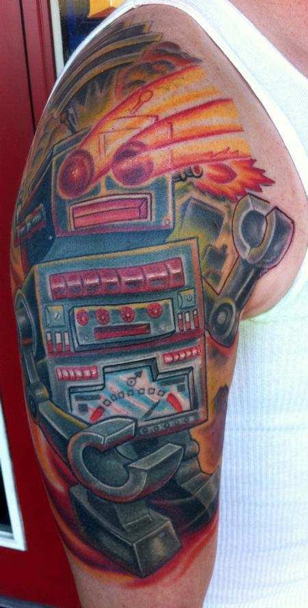 Tattoos - Vintage robot tattoo - 93466