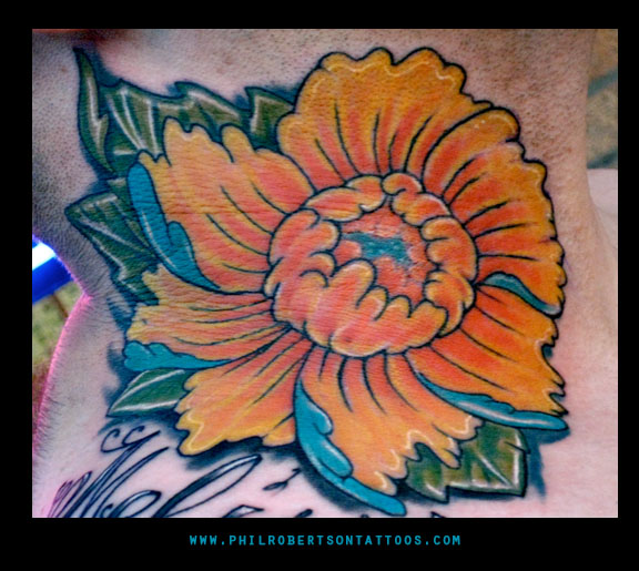 Tattoos - Japanese flower. - 30568