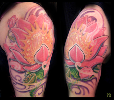 Tattoos - Lotus Blossom tattoo - 33366