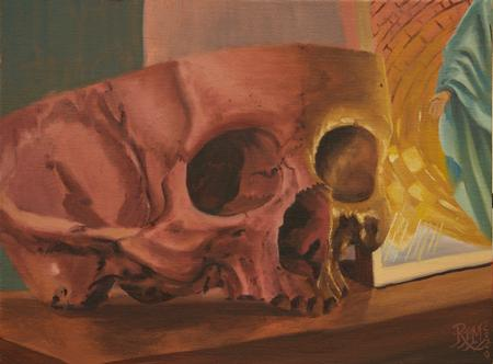 Tattoos - Skull and Saint midnight oil study 4/2020  - 141628