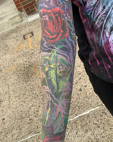 Tattoos - Zombie Hand Reaching out  from the Grave Full Color Sleeve  - 141817