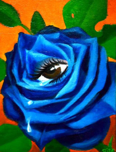 Tattoos - Crying Blue Rose  - 95619