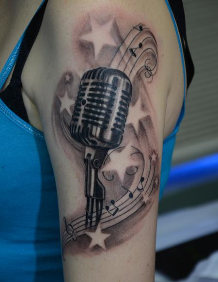 Tattoos - Vintage Microphone - 95274