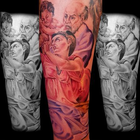 Religious Portraits Tattoo Design
