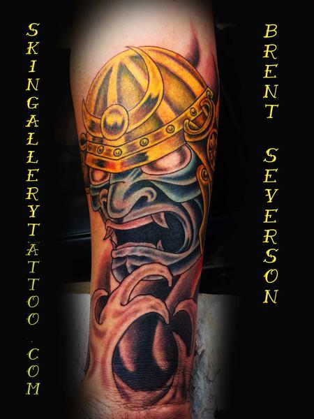 Tattoos - Masked Japanese Warrior - 104856