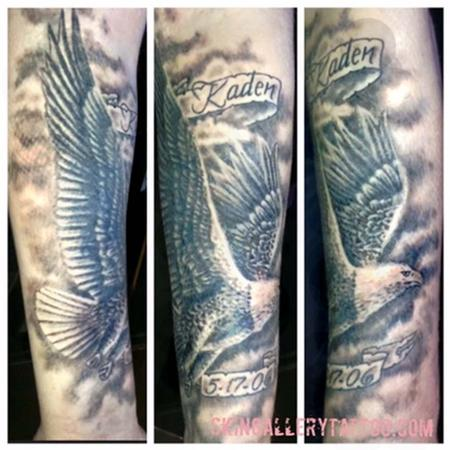 Brent Severson - Black and Gray Eagle Tattoo