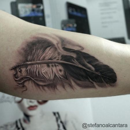 Tattoos - FreeHand Feather - 102248