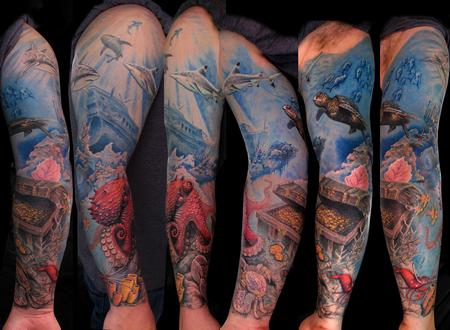 Tattoos - Underwater Sleeve - 62713
