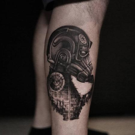 Imperial Tie Fighter Pilot Tattoo Design