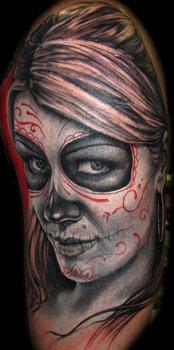 Tattoos - Sugar Skull - 33079