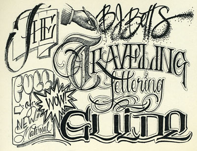 The BJ Betts Traveling Lettering Guide