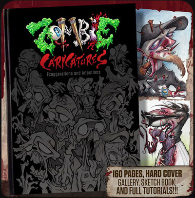 Zombie Caricatures: Infections and Exaggerations