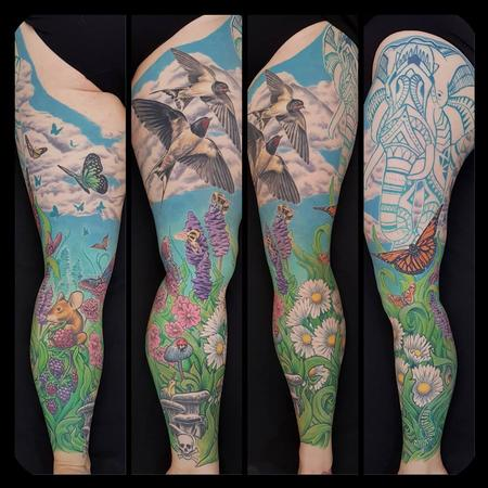Tattoos - Nature Leg Sleeve - 134470