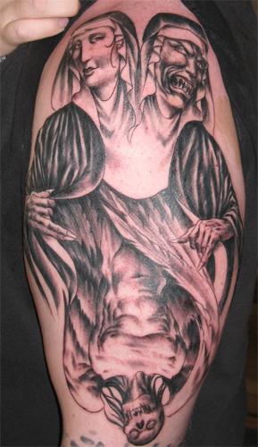 Mary Devil Tattoo Design