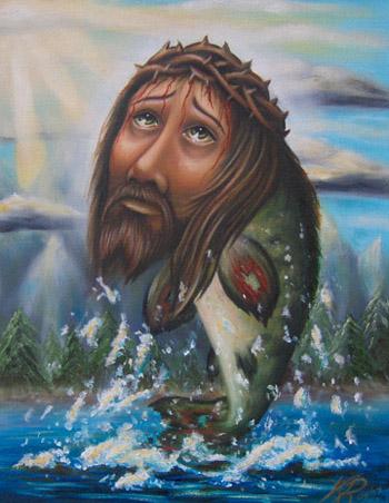 Tattoos - Actual Jesus Fish - 23593