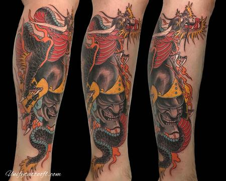 Tattoos - Dragon with hanna mask - 138917
