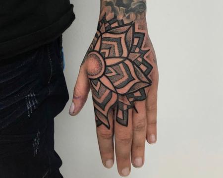 Tattoos - Mandala on Hand - 138821