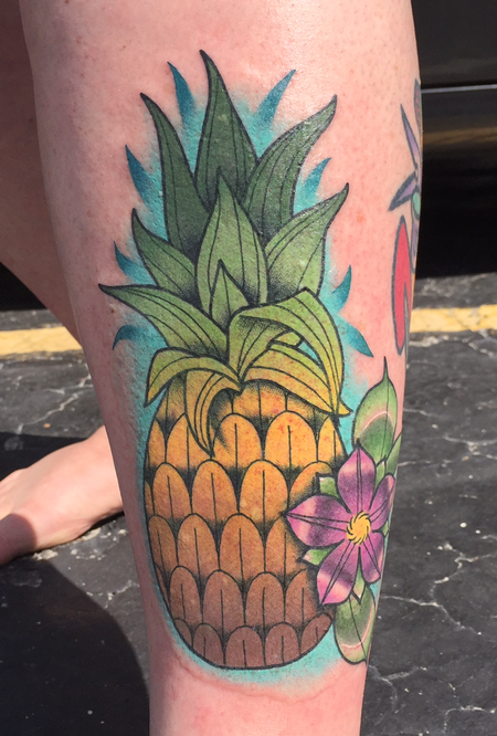 Tattoos - Pineapple and flower - 139827