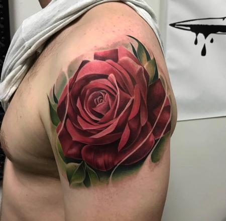 Tattoos - Rose on arm - 138824